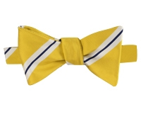 Mogador Striped Bow Tie in Lemon