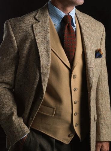 Moleskin Waistcoat in Camel