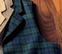 Green and Navy Tartan Waistcoat