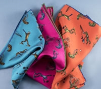 Silk Printed Sporting Frog Pocket Squares