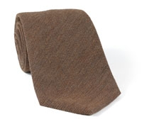 Wool/Silk Solid Tie Tan