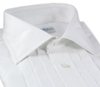 Egyptian Broadcloth Evening Shirt-White