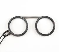 Fassamano Readers in Black Glitter, 2.00 Lenses