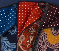 Paisley and Polka Dot Reversible Pocket Squares