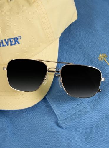 Gold Aviator Sunglasses