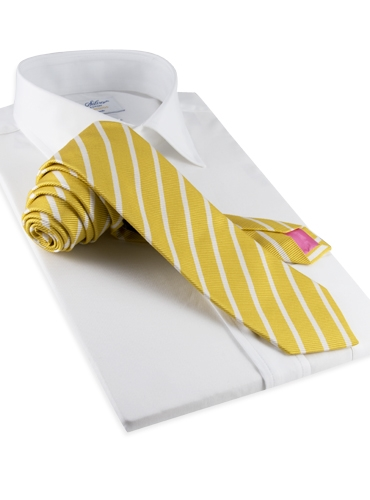 Mogador Bar Stripe Tie in Lemon