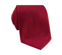 Silk Basketweave Tie in Ruby
