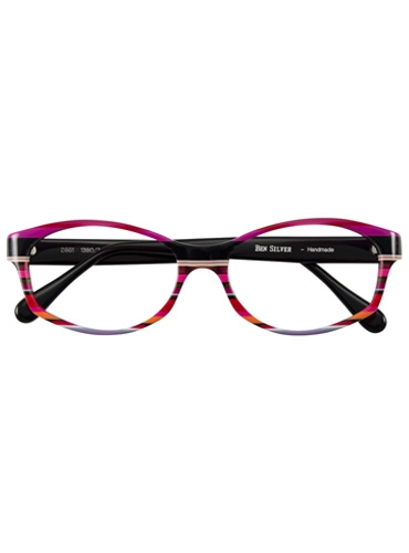 Multi-Colored Handmade Frame in Magenta, Cherry, and Black