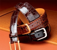Shiny Finish Alligator Belts