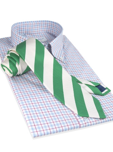 Mogador Silk Stripe Tie in Malachite