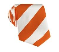 Silk Block Stripe Tie in Copper