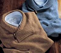 Donegal Lambswool Shawl Collar Sweaters