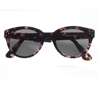 Bold Sunglasses in Purple and Brown
