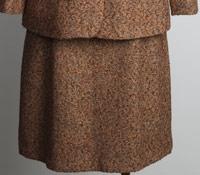 Ladies Tweed Skirt in Orange