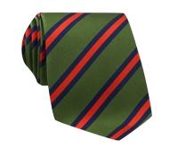 Mogador Woven Stripe Tie in Leaf and Chili
