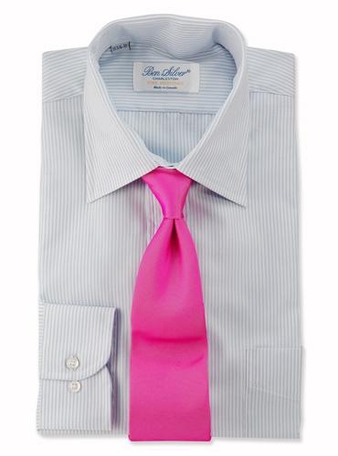 Silk Woven Tie in Azalea