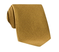 Wool, Silk and Cashmere Blend Solid Tie in Marigold