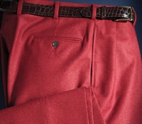 Red Flannel Trousers
