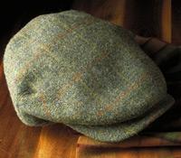 Wool Aberford Green Tweed Cap