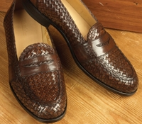 The Woven Loafer in Brown