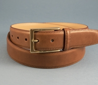 Smooth Leather Belt in Tan