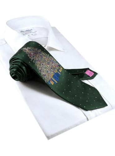 Woven Christmas Tree Tie in Tartan