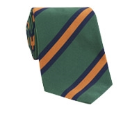 Mogador Silk Stripe Tie in Forest