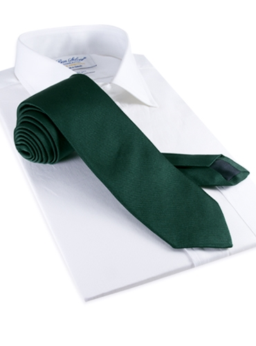Silk Solid Repp Tie in Holly