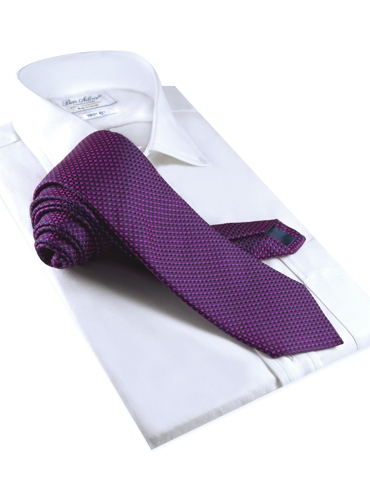 Basketweave Tie in Violet, Pink & Marine