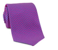 Basketweave Tie in Pink, Blue & Maroon