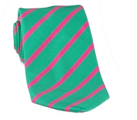 Mogador Bar Stripe Tie in Kelly