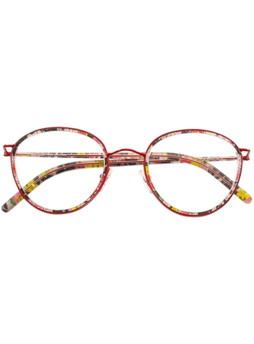 Retro Round Frames in Red Floral