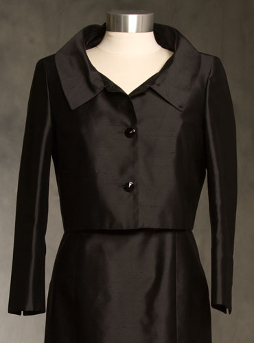Short Black Silk Jacket