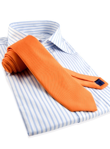 Mogador Silk Solid Signature Tie in Tangerine