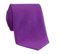 Silk Basketweave Tie in Fuchsia