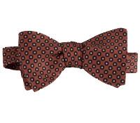 Silk Printed Dot Bow Tie in Copper