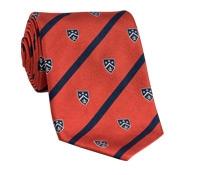 Silk Woven Club Tie in Chili