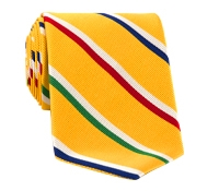 Mogador Silk Stripe Tie in Sun