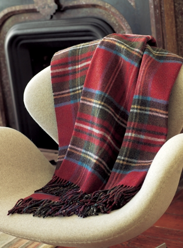 Lambswool Double Faced Plaid Throw