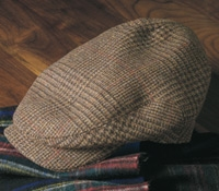 Wool Aberford Glen Plaid Cap in Chestnut