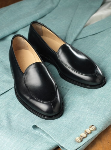 The Bentley Loafer in Black Leather