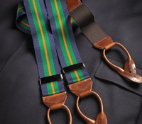 Navy & Kelly Green Striped Braces