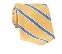 Silk and Linen Stripe Tie in Sun