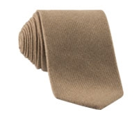 Camelhair and Wool Blend Tie in Camel