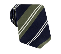 Mogador Stripe Tie in Navy and Olive