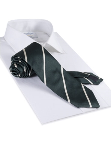 Satin Bar Stripe Tie in Atlantic
