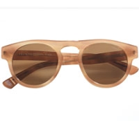 Square Sunglasses in Honey Horn