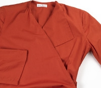 Marie Meunier Flamande Cotton Wrap Top in Orange