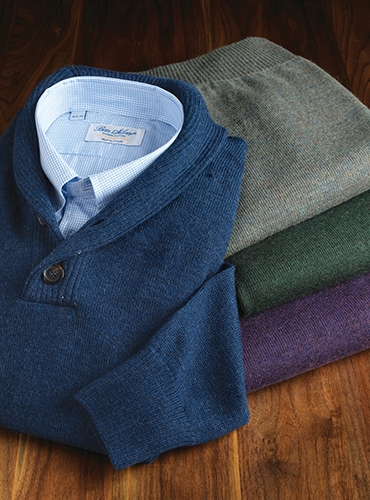 Royal Alpaca Shawl Collar Sweaters