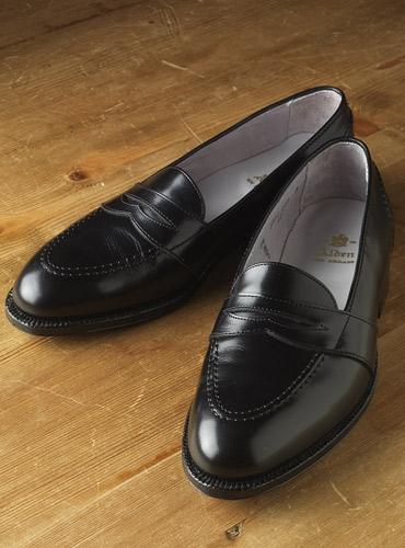 The Alden Full Strap Slip-On Loafer in Black